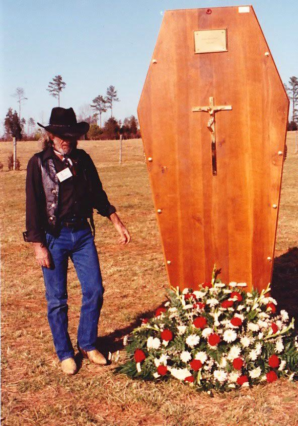 Andre the Giant's casket before it was buried on his farm in North Carolina…