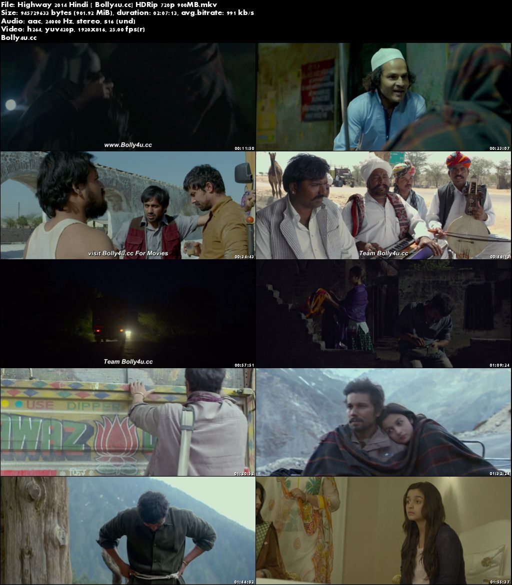 Highway 2014 HDRip 900MB Full Hindi Movie Download 720p