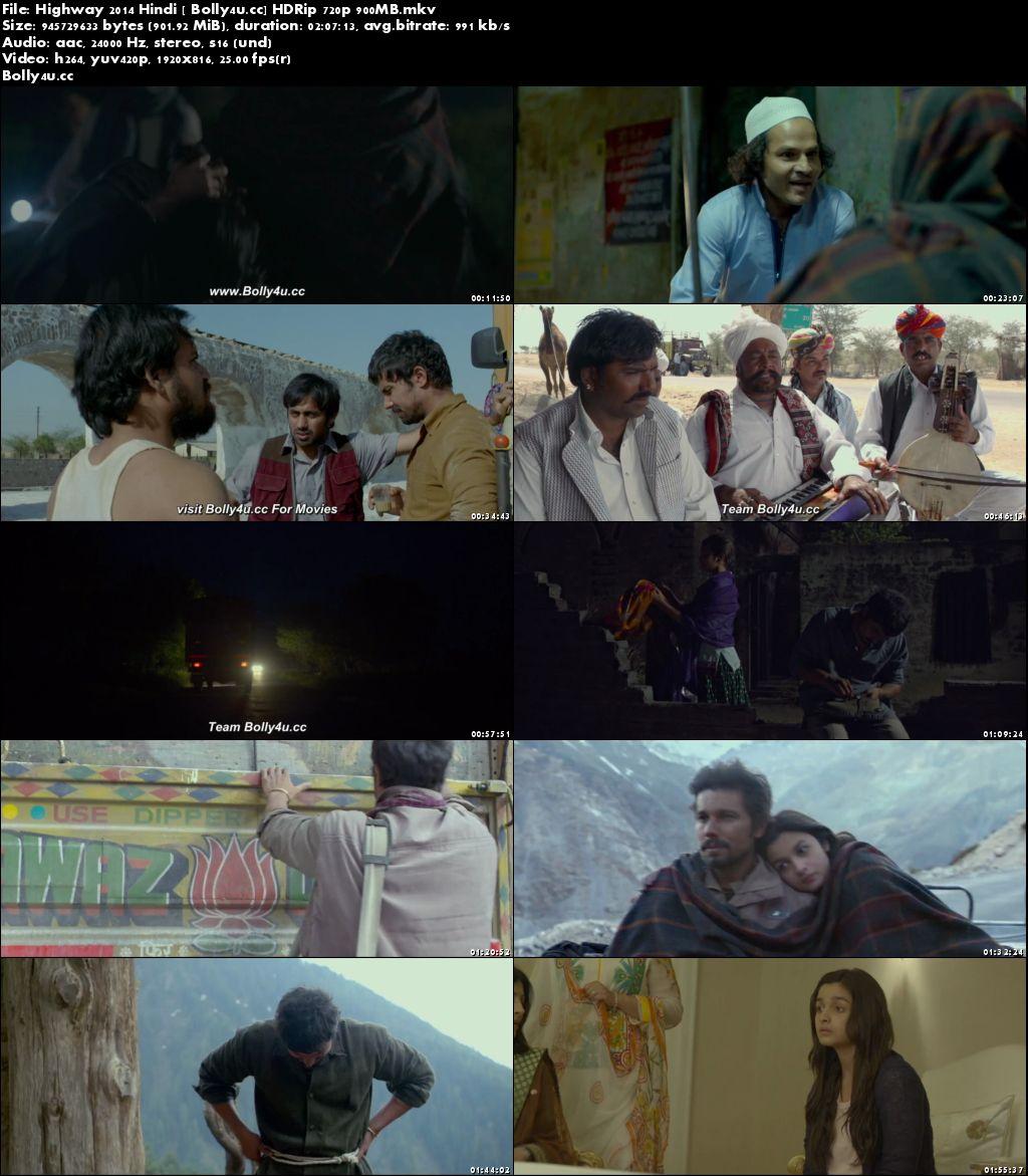 Highway 2014 HDRip 350MB Full Hindi Movie Download 480p
