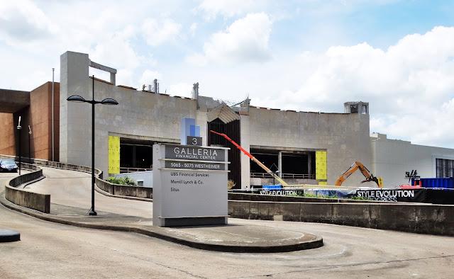 Galleria 3 Financial Center ramp next to demolition site