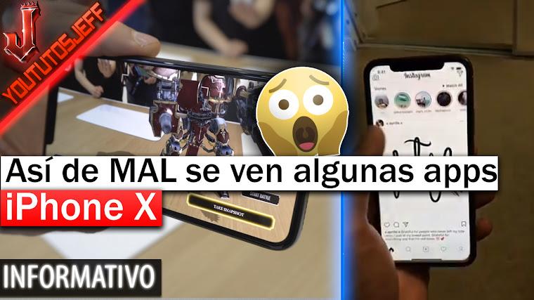 iPhone X Así de MAL se ven algunas apps