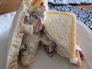 This chicken salad is the very best. It is the perfect ratio of sweet and savory with a slight crunch, making it a light and delicious lunch. #WomenLivingWell #lunch #sandwiches #chickensalad
