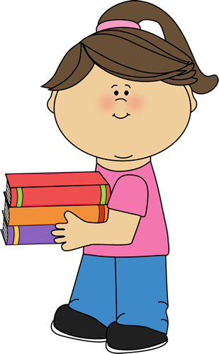 girl with books free clip art - photo #1