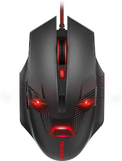 Tecknet M268 Raptor Black Wired Optical Gaming Mouse  (USB, Black/Red)