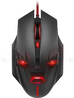 Tecknet M268 Raptor Black Wired Optical Gaming Mouse  (USB, Black/Red)