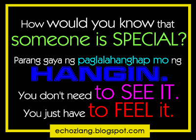 How would you know that someone is special?