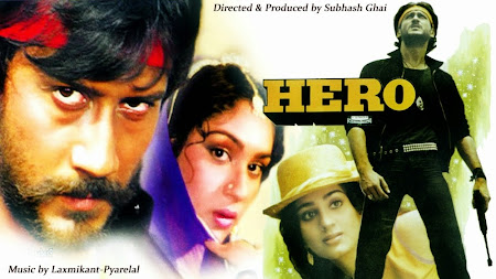 Poster Of Bollywood Movie Hero (1983) 300MB Compressed Small Size Pc Movie Free Download worldfree4u.com