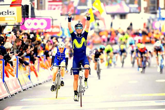 Una de las victorias más emotivas de Valverde... Va por ti Scarponi