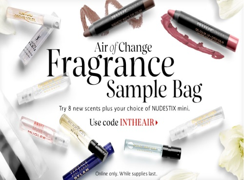 Sephora Free Fragrance Sample Bag Promo Code