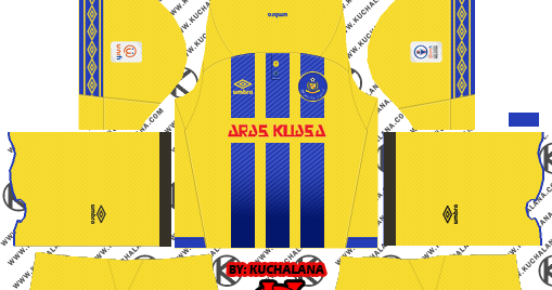 Pahang FA 2019 Kit - Dream League Soccer Kits - Kuchalana