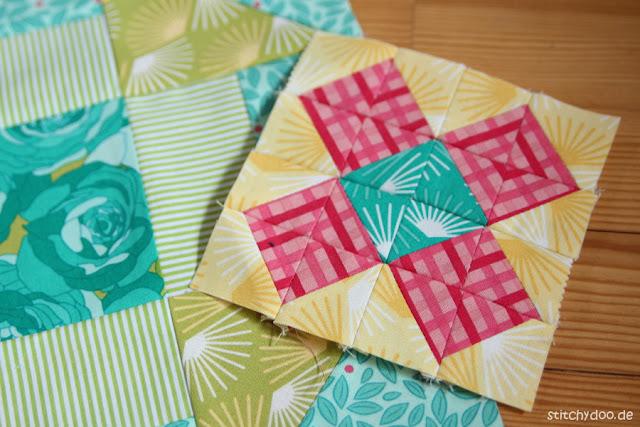 stitchydoo: Resteverwertung - Ein kleiner Patchwork Block aus Stoffabschnitten