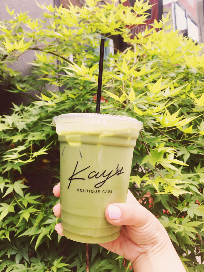 Most Instagram Worthy Desserts in NYC - Kay's Boutique cafe Hulk matcha