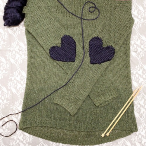 Knit Elbow Patch - Free Pattern