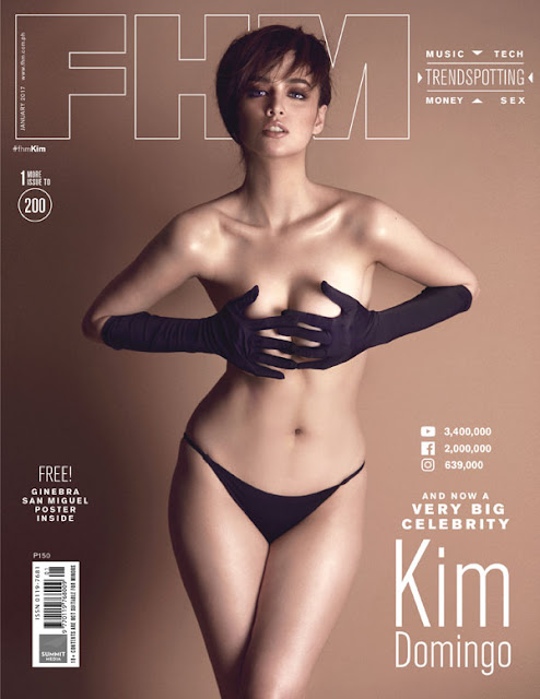 Kim Domingo FHM's January 2017 Cover Girl
