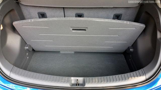 2017 Chevrolet Bolt LT cargo area - Subcompact Culture