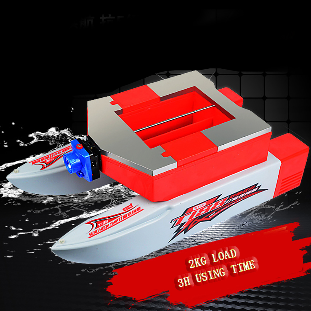 660d984ab876 57cm Fishing Bait RC Boat 500M Remote Fish Finder 5.4km h Double Motor Toys