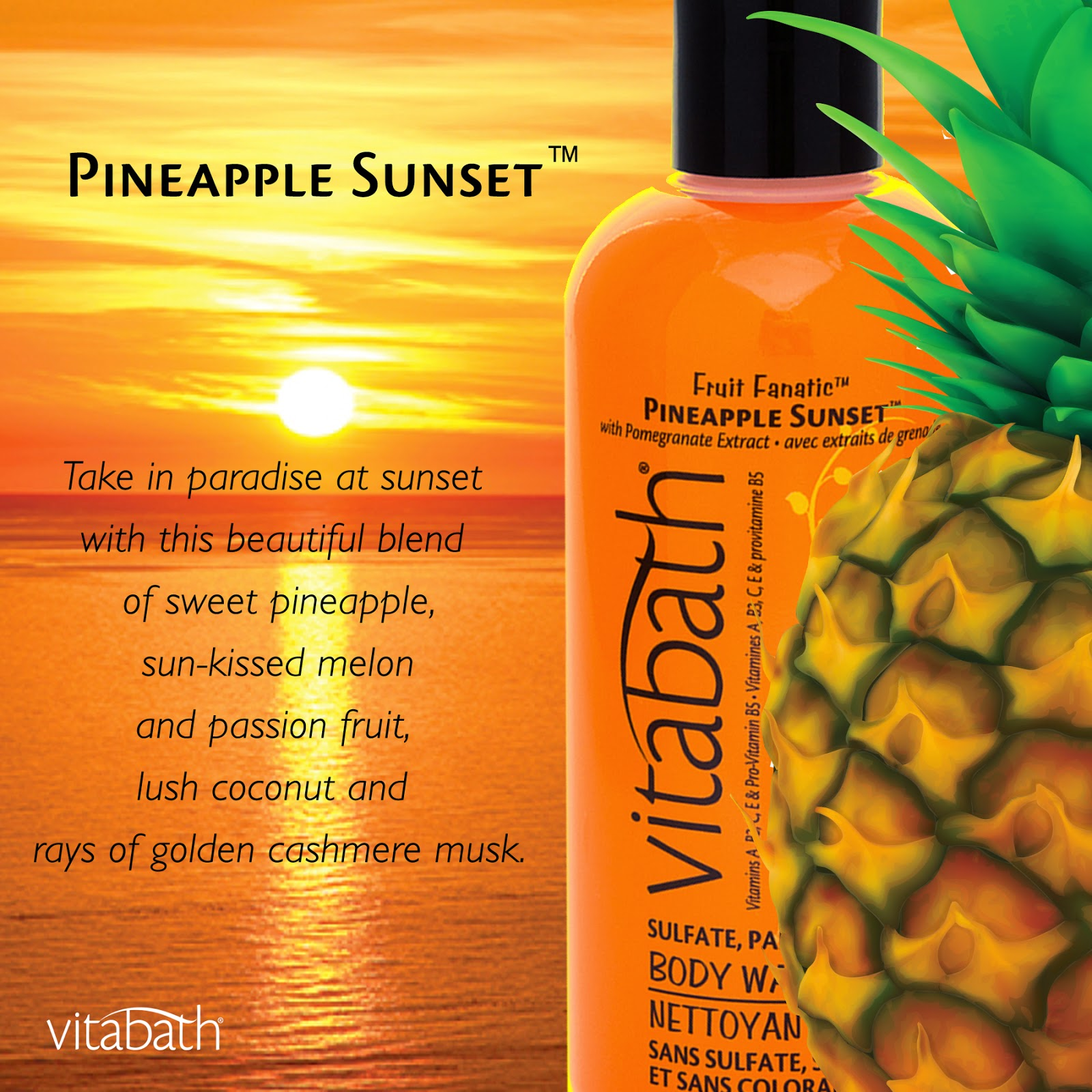 Vitabath #FruityFresh Spring Scents Pineapple Sunset Fragrance Mist