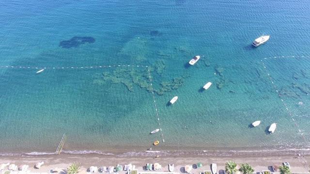 Kurucabuk, Ege'de temiz deniz, en temiz deniz, sahil, tatil, drone camera