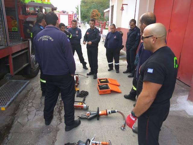 Συνεχής η εκπαίδευση των πυροσβεστών στο Ναύπλιο