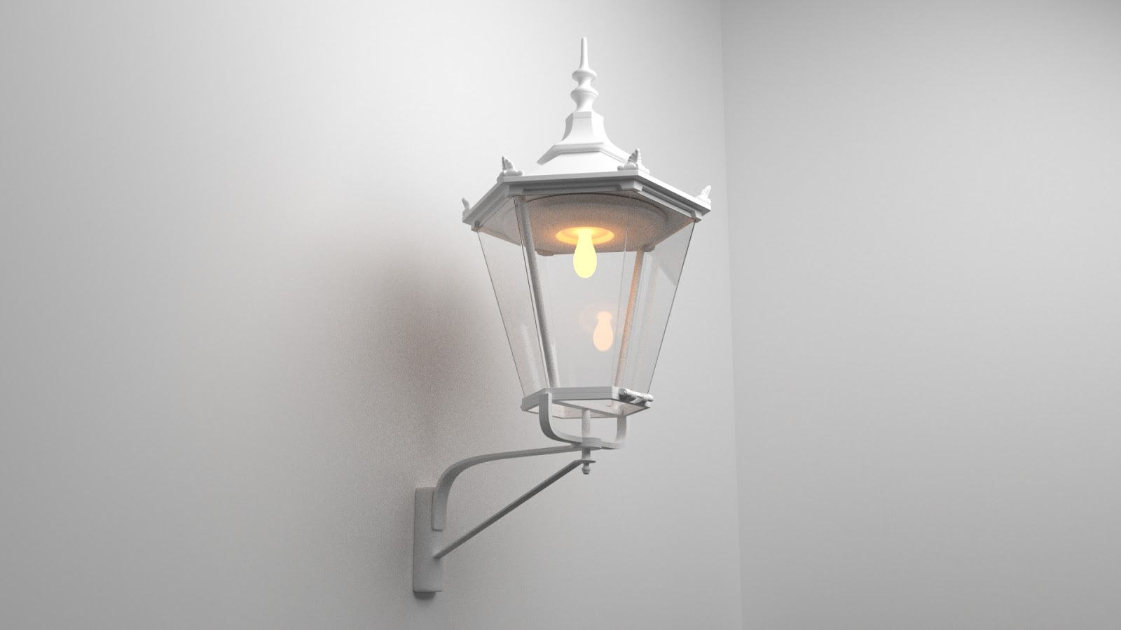 Free 3D Wall Lamp .blend file