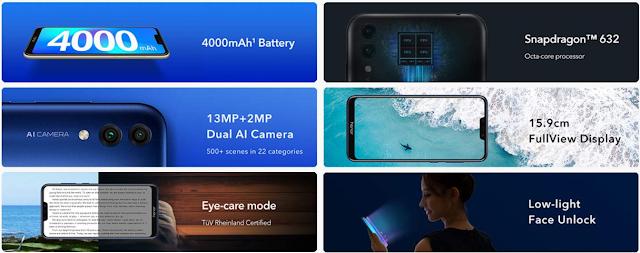 HONOR का नया स्मार्टफोन HONOR 8C 4GB RAM के साथ सिर्फ ₹11999 - अमेजॉन एक्सक्लूसिव