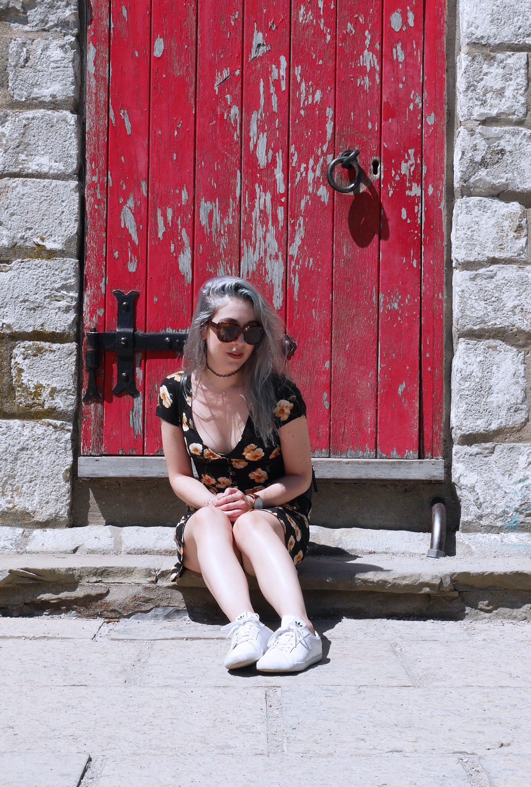 Toronto Island OOTD ft. Forever 21 floral dress, Zara backpack, and Adidas sneakers
