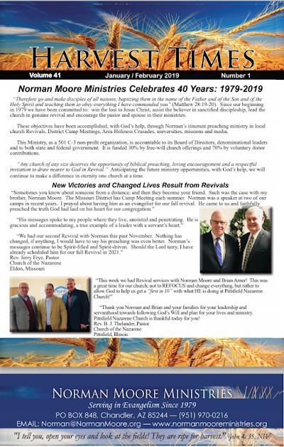 Harvest Times, Volume 41 Number 1, January - February 2019