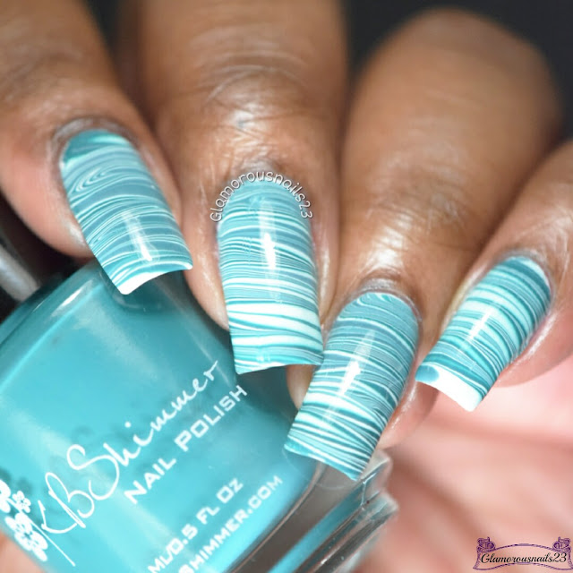 Watermarble Wednesdays: Teal & White