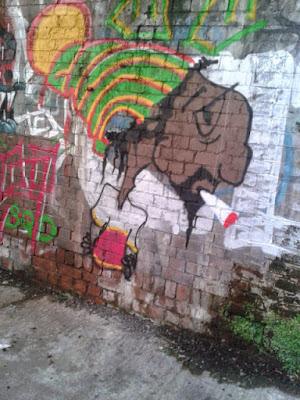 Manchester Oxford Road Snoop Dogg Grafitti UK Travel Blog