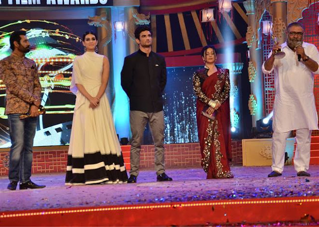 Kriti Sanon And Sushant Singh Rajput At PTC Awards Stills