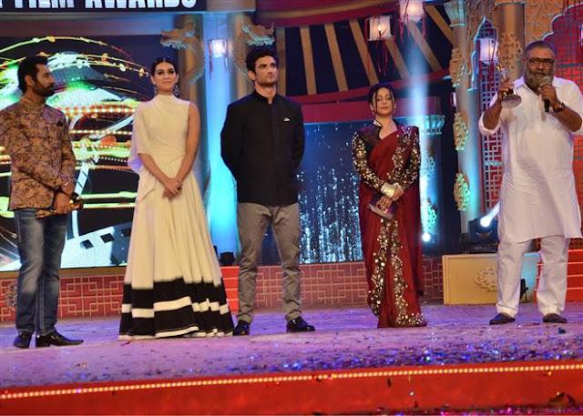 Kriti Sanon And Sushant Singh Rajput At PTC Awards Stills
