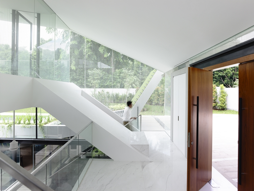 Interior of an Impressive dream home in Singapore by a-dlab