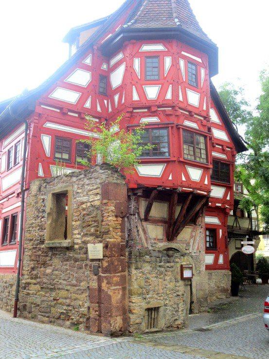 The oldest house in Stuttgart, Germany  It looks like a