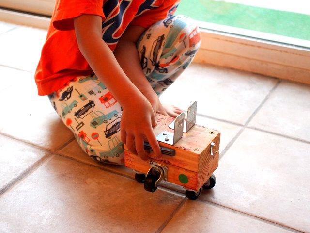 Build Your Own Unique Wooden Car Pink Stripey Socks