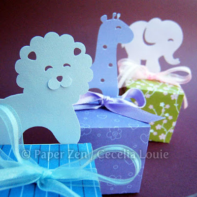 Animal Gift Box or Party Favor for Birthday Party or Baby Shower