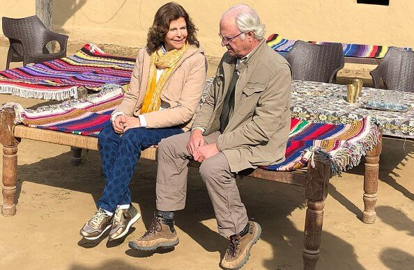 King Carl Gustaf and Queen Silvia met with representatives of the Van Gujjar community, a former nomadic forest tribe