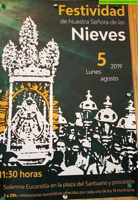Programa de las Fiestas litúrgicas en honor a Nuestra Señora de las Nieves, agosto 2019