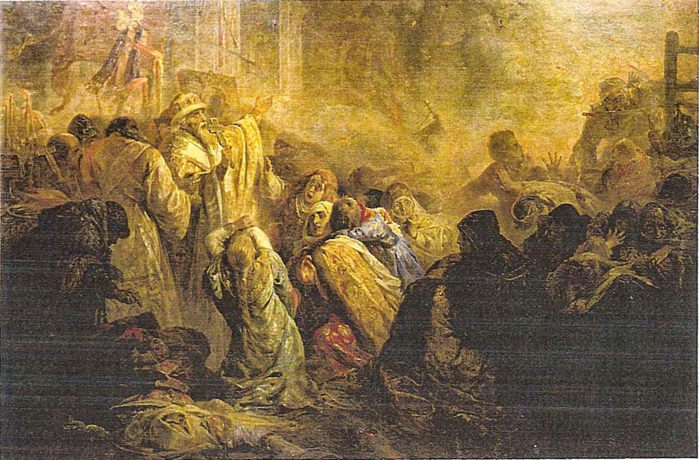 Nicolai A. Koscheleff. The Plunder of Vladimir by the Tartars.