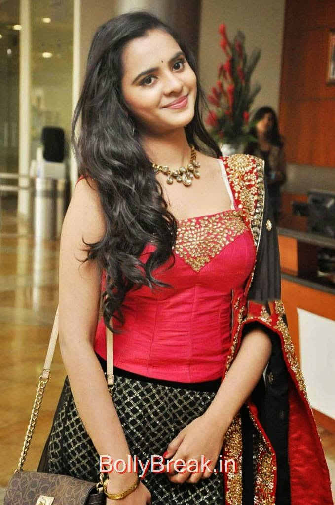 Manasa Photo Gallery, Manasa hot pics n Red and Black Lehenga