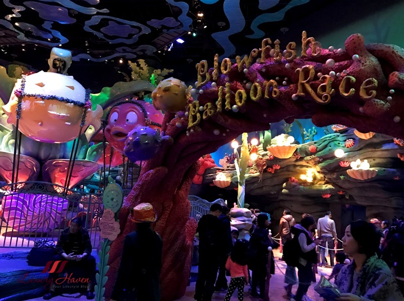 disneysea mermaid lagoon ariel playground blowfish balloon race