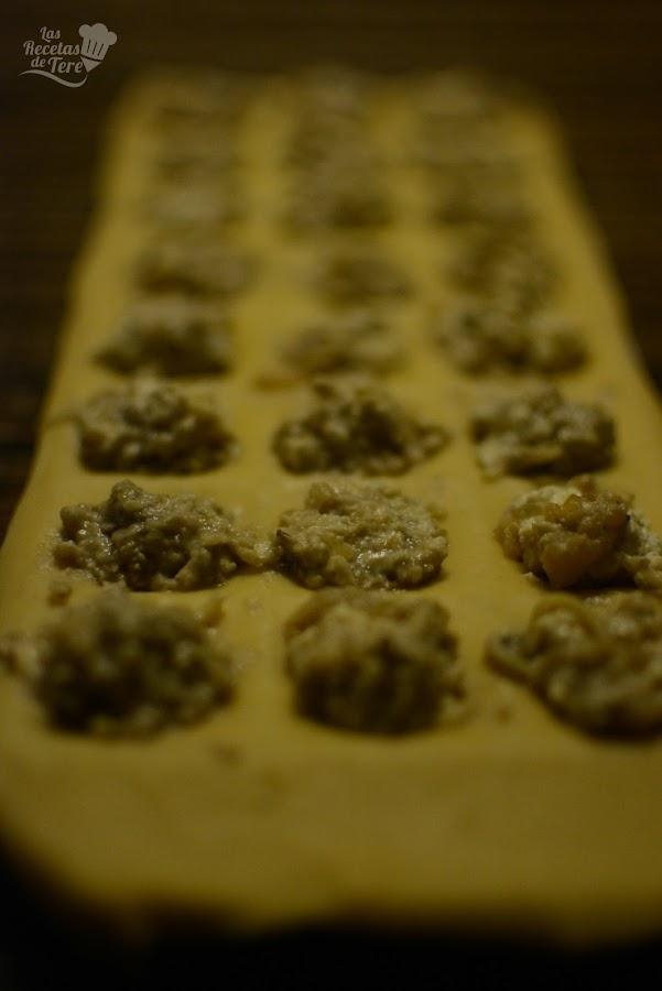 Raviolis con queso azul nueces y manzana tererecetas 02