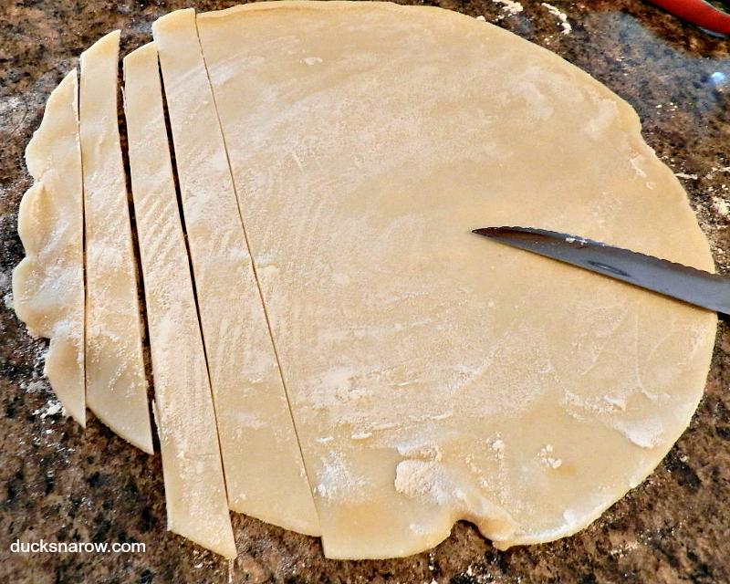 how to make lattice from frozen pie crust