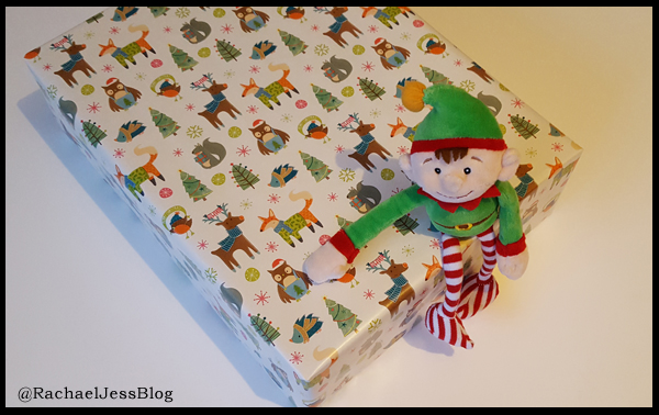 Wrapped base for placing a Christmas Tree on
