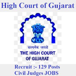 High Court of Gujarat, Gujarat High Court, Gujarat, High Court, civil judge, Graduation, freejobalert, Sarkari Naukri, Latest Jobs, gujarat hc logo