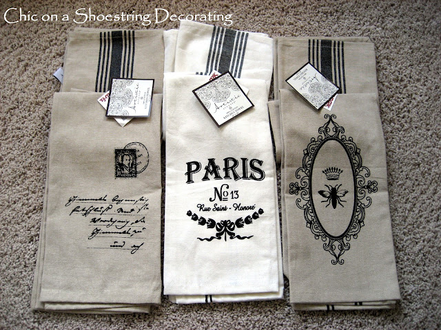 Chic on a Shoestring Decorating: Frenchy Dish Towel Love