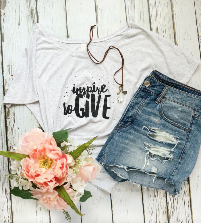 Inspire to Give Tee and Necklace