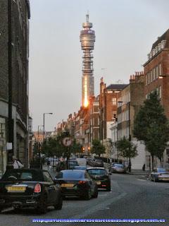 Torre del edificio de Correos vista desde Marylebone High Street.