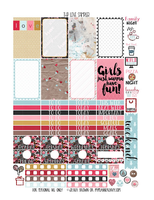 Free Printable Love Sampler for the Classic Happy Planner from myplannerenvy.com