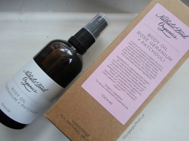 Review Nathalie Bond Organics Rose Geranium & Patchouli Body Oil