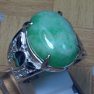 Cincin Batu Giok Jadeite Jade - ZP 866